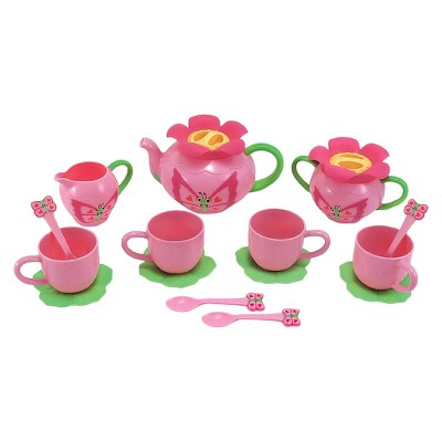 Melissa & Doug® Sunny Patch Bella Butterfly Tea Set (17pc) - Play Food Accessories