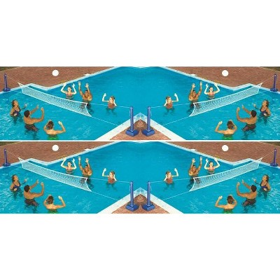 Swimline Cross In-Ground Swimming Pool Fun Volleyball Net Game Water Sets (4)
