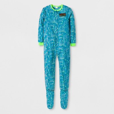 Boys' Inventor Graphic Footed Sleeper - Cat & Jack™ Aqua