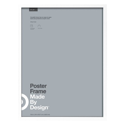 18 x 24 poster frame white made by design