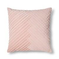 Blush Pleated Velvet Throw Pillow - Fieldcrest : Target
