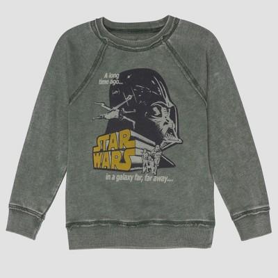 Junk Food Toddler Boys' Star Wars Darth Vader Full Sleeve Sweatshirt - Green