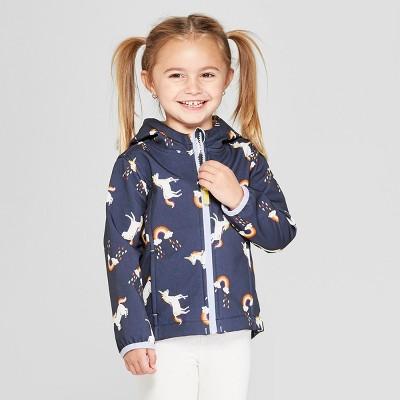Toddler Girls' Unicorn Softshell Jacket - Cat & Jack™ Blue