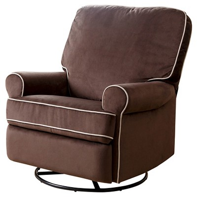 glider recliner chair harbour upholstery/steel base bentley fabric swivel coffee abbyson living target