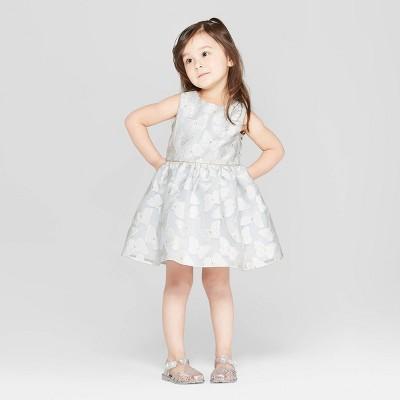 Mia & Mimi Toddler Girls' Fairy A-Line Dress - White/Silver