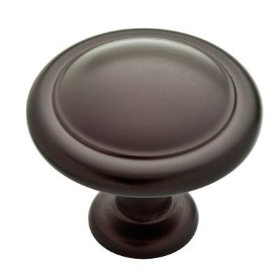 """25pk 1-1/4"""" (32mm) Round Ringed Knob Dark Oil Rubbed Bronze - Franklin Brass"""
