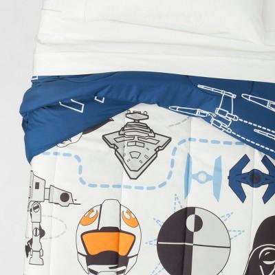 Star Wars Twin Comforter Blue