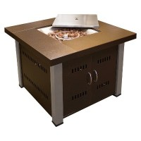 Antique Bronze/Stainless Steel Propane Fire Pit : Target