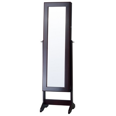 cheval free standing jewelry armoire espresso firstime