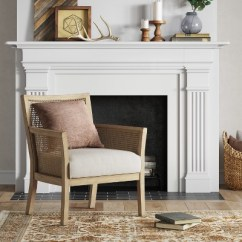 Accent Chairs For Living Room Reclining Patio With Ottoman Laconia Caned Chair Beige Threshold Target