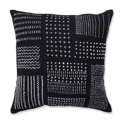 16 5 x16 5 geometric print throw pillow black white pillow perfect