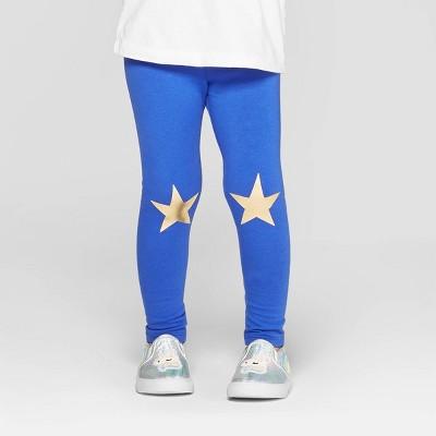 Toddler Girls' 'Star' Leggings - Cat & Jack™ Blue