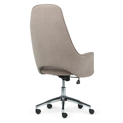 zara swivel chair bearings for glider rocking chairs specter large office taupe micro fiber fabric 8 more