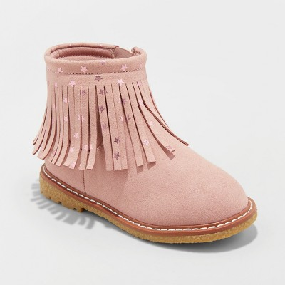 Toddler Girls' Jamayka Metallic Ankle Boots - Cat & Jack™ Pink