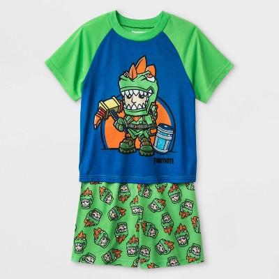 Boys' Fortnite 2pc Pajama Set - Green/Blue
