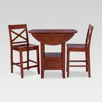 3pc storage dining table set brown threshold