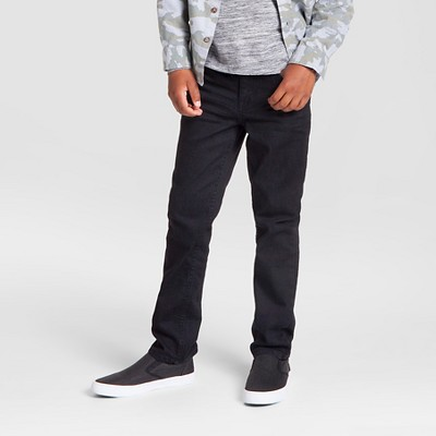 Boys' Straight Fit Jeans - Cat & Jack™ Black Wash