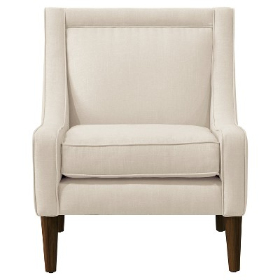 Mid Century Linen Swoop Arm Chair - Skyline Furniture®