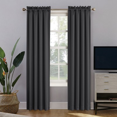 Oslo Rod Pocket 100% Blackout Window Curtain Panels - Sun Zero