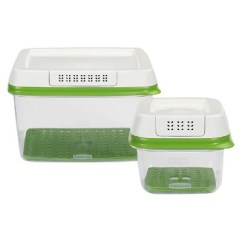 Rubbermaid Shower Chair Replacement Parts Butterfly Covers Cotton 2ct Freshworks Produce Saver Food Storage Container With Lid Green Target