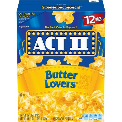 act ii butter lovers popcorn bags 33 016oz