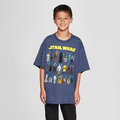 Boys' Star Wars Character Toys Short Sleeve Graphic T-Shirt - Navy