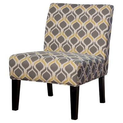 accent chair yellow office penang saloon fabric print gray christopher knight home