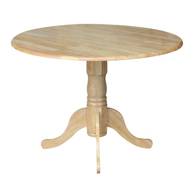pedestal kitchen table toys r us kitchens round drop leaf dining international concepts target 7 more