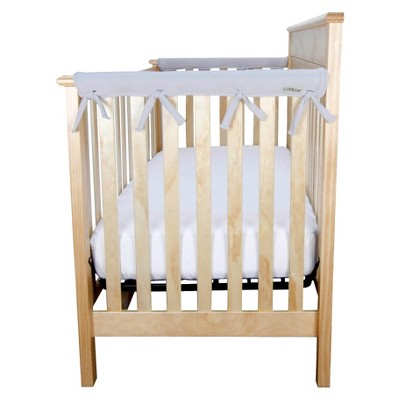 Trend Lab Short Gray Fleece Narrow Crib Rail Cover