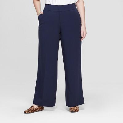 Women's Plus Size Wide Leg Trouser Pants - Ava & Viv™