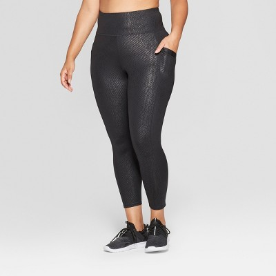 Women's Plus Size High - Waisted Printed 7/8 Mid-Rise Leggings - JoyLab™