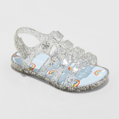 Toddler Girls' Jacey Glitter Jelly Fisherman Sandals - Cat & Jack™