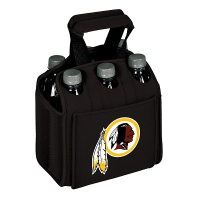 Washington Redskins - Six Pack Beverage Carrier by Picnic Time (Black)
