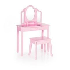 Pink Vanity Chair Indoor Wicker Classic And Stool Guidecraft Target