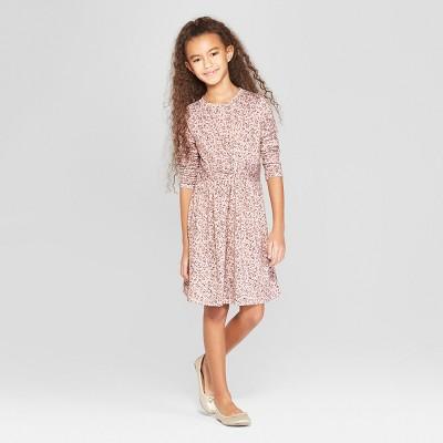Girls' Twist Front Dress - art class™ Pink