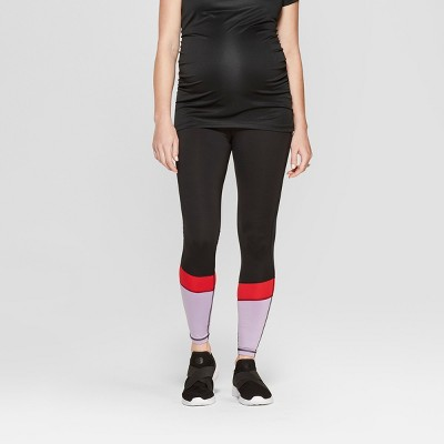 Maternity Colorblock Active Wear Leggings - Isabel Maternity by Ingrid & Isabel™ Black