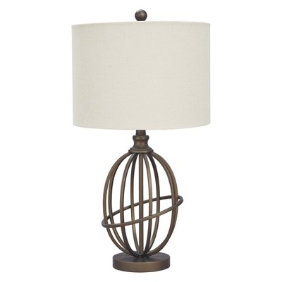 manasa metal table lamp antique brass signature design by ashley