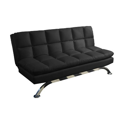 Reedley Leather Euro Lounger Sofa Black - Abbyson Living