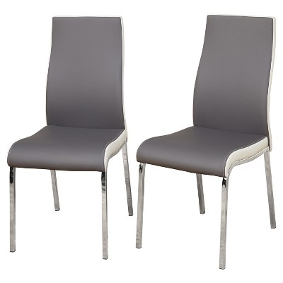modern gray dining chairs chair cover rentals northern va nora set of 2 white target marketing systems