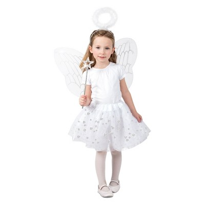 Girls' Angel Skirt Set Halloween Costume XS