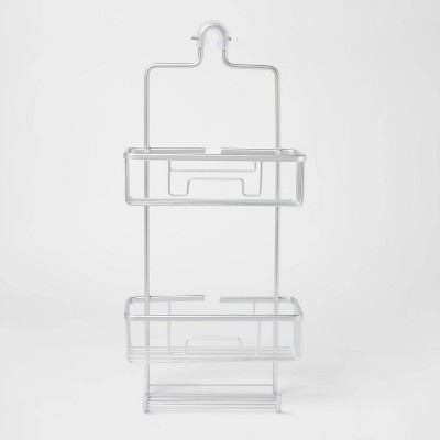 large rustproof shower caddy with lock top gray made by design