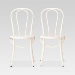 Metal Bistro Chairs Hanging Chair Christchurch Emery Set Of 2 Threshold Target