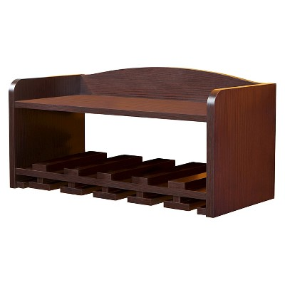 Caprice Modern Wall Mounting Wine Rack Walnut - HOMES: Inside + Out