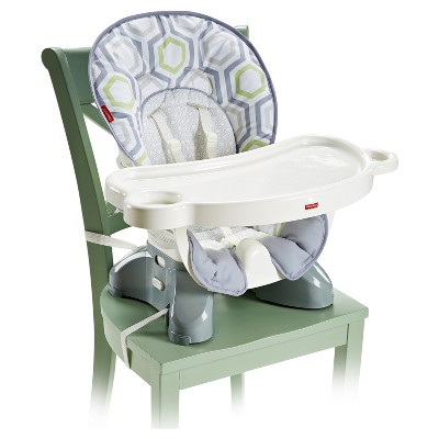 target space saver high chair cowhide chairs modern fisher price spacesaver