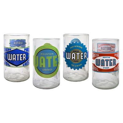 Artland Upkyle Spring Water 8oz 4pk Juice Glasses