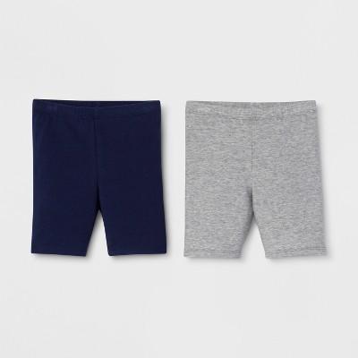 Toddler Girls' Trouser Shorts - Cat & Jack™ Navy/Gray