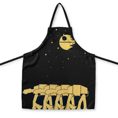 Se7en20 OFFICIAL Star Wars Kitchen Apron | Cooking Apron with Death Star & AT-AT Walkers