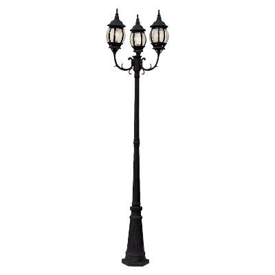 """Italian Estate 91"""" Lamp Post In Black"""