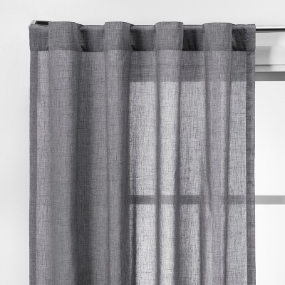 2pk 42 x63 light filtering window curtain panels gray made by design
