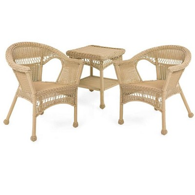 easy care resin outdoor wicker chairs set of 2 plow hearth